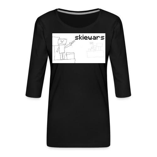 SKIEWARS - Vrouwen premium shirt 3/4-mouw