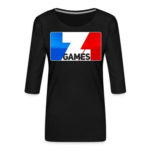 9815 2CZoominGames so MLG - Women's Premium 3/4-Sleeve T-Shirt