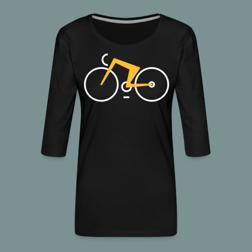 Bikes against cancer - Dame Premium shirt med 3/4-ærmer