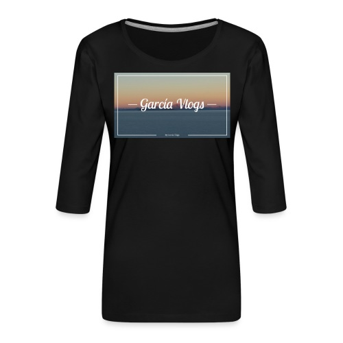 Garcíavlogs - Camiseta premium de manga 3/4 para mujer