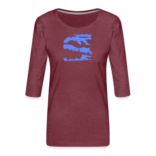 Blue_Sample.png - Frauen Premium 3/4-Arm Shirt