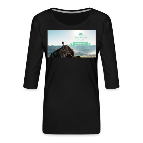 fbdjfgjf - Women's Premium 3/4-Sleeve T-Shirt
