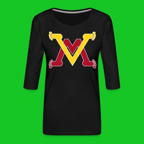 Man en vrouw. - Vrouwen premium shirt 3/4-mouw