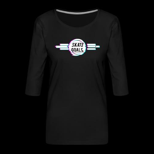 GLITCH SERIES - Vrouwen premium shirt 3/4-mouw