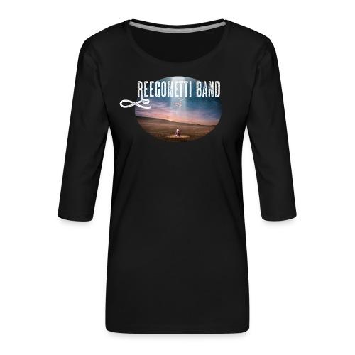 Reegonetti Band - Exploring the unknown - Premium-T-shirt med 3/4-ärm dam