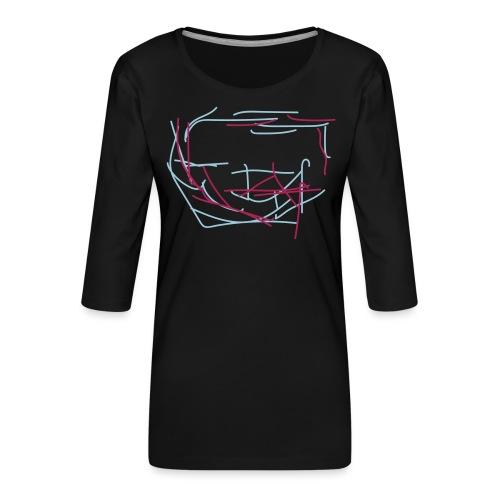 Outside the box - Premium-T-shirt med 3/4-ärm dam