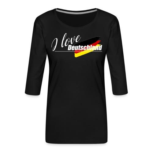 I love Deutschland - Frauen Premium 3/4-Arm Shirt