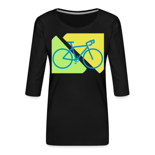 Racefiets - Vrouwen premium shirt 3/4-mouw