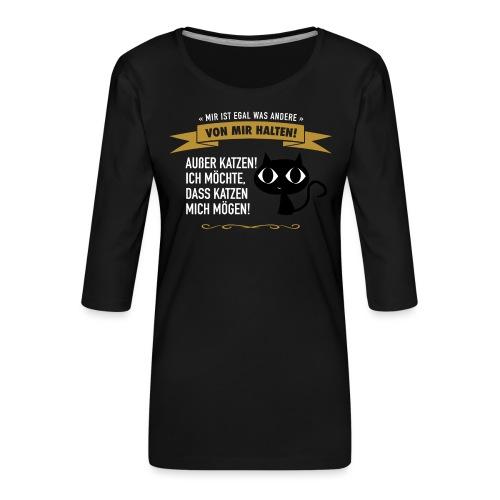 Hauptsache Katzenliebe! - Frauen Premium 3/4-Arm Shirt