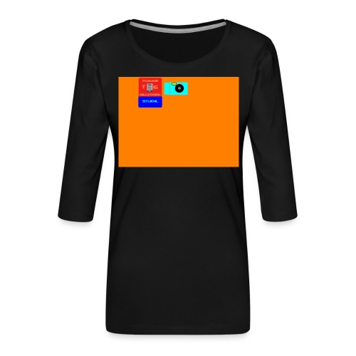 logo - Vrouwen premium shirt 3/4-mouw
