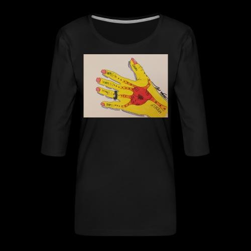9D8D600F D04D 4BA7 B0EE 60442C72919B - Dame Premium shirt med 3/4-ærmer