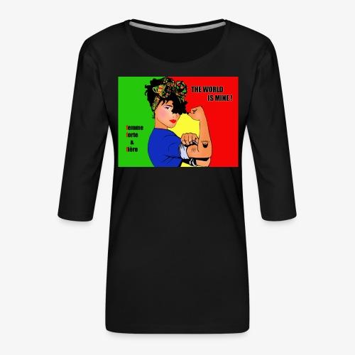 FFF strong & proud woman - Women's Premium 3/4-Sleeve T-Shirt
