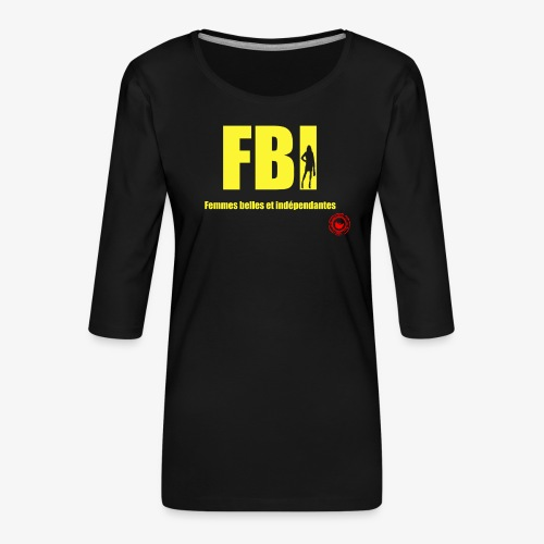 FBI - Women's Premium 3/4-Sleeve T-Shirt