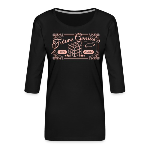Rubik's Cube Future Genius - Women's Premium 3/4-Sleeve T-Shirt