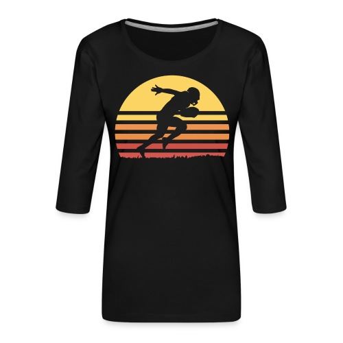 Football Sunset - Frauen Premium 3/4-Arm Shirt