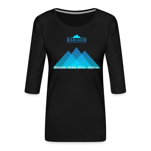 Cadiach Broad Peak 2016 - Hombre - Camiseta premium de manga 3/4 para mujer