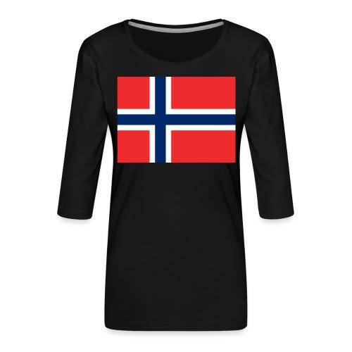 DixieMertch - Premium T-skjorte med 3/4 erme for kvinner