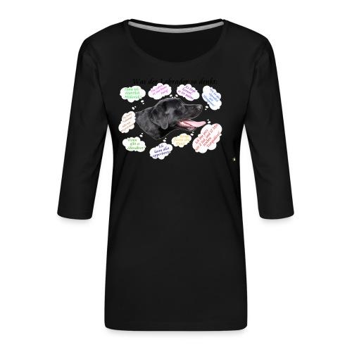Labrador Gedanken - Frauen Premium 3/4-Arm Shirt