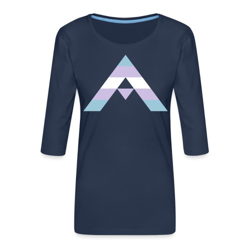 shirt_ally_trans - Premium-T-shirt med 3/4-ärm dam
