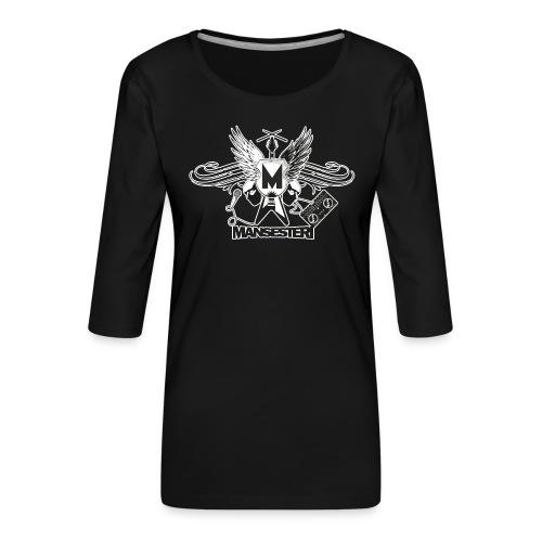 Mansesteri logo - Naisten premium 3/4-hihainen paita
