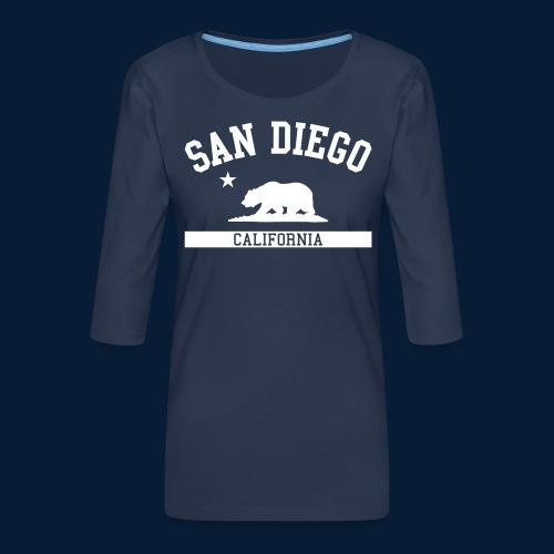 San Diego - Frauen Premium 3/4-Arm Shirt