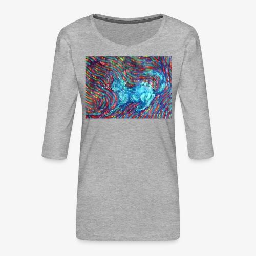 Kotek - Koszulka damska Premium z rękawem 3/4