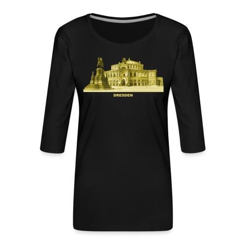 Dresden Semperoper Sachsen - Frauen Premium 3/4-Arm Shirt