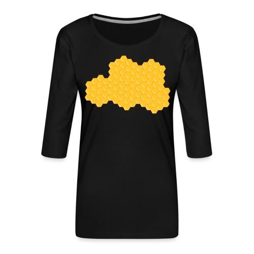 Bienenwabe - Frauen Premium 3/4-Arm Shirt