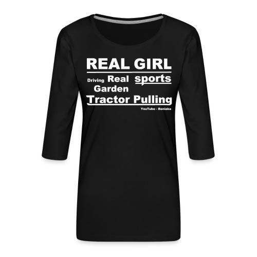 teenager - Real girl - Dame Premium shirt med 3/4-ærmer