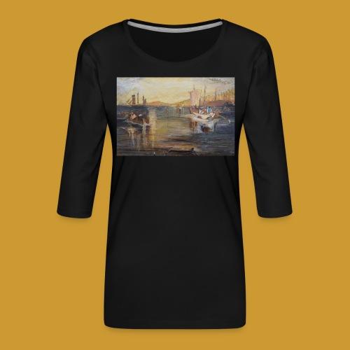 White Fishing - Mark Noble Art - Women's Premium 3/4-Sleeve T-Shirt