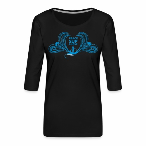 Peace sup and love 2 - T-shirt Premium manches 3/4 Femme