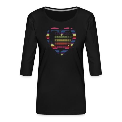 Love - Dame Premium shirt med 3/4-ærmer