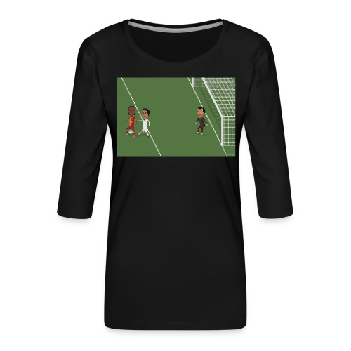 Backheel goal BG - Women's Premium 3/4-Sleeve T-Shirt