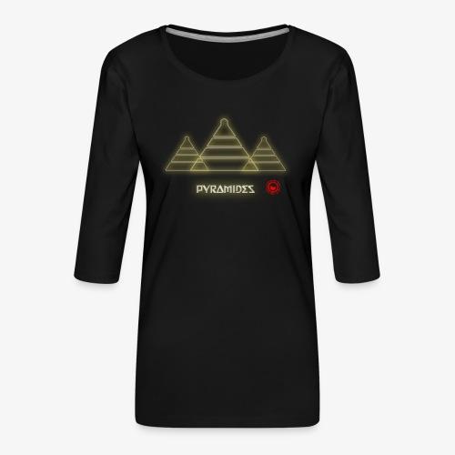 Pyramides - Women's Premium 3/4-Sleeve T-Shirt