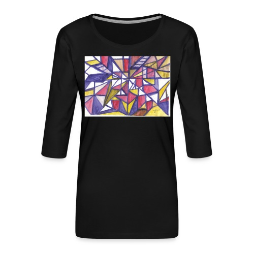 Flickenteppich - Frauen Premium 3/4-Arm Shirt