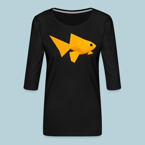 RATWORKS Fish-Smish - Women's Premium 3/4-Sleeve T-Shirt