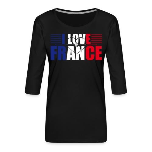 love france - T-shirt Premium manches 3/4 Femme