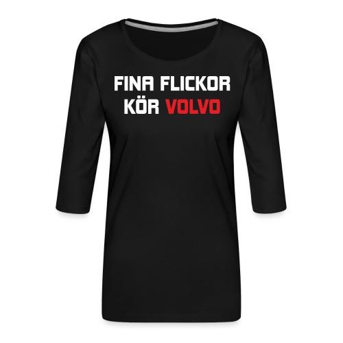 FONAFLICKORKOeRVOLVO - Premium-T-shirt med 3/4-ärm dam