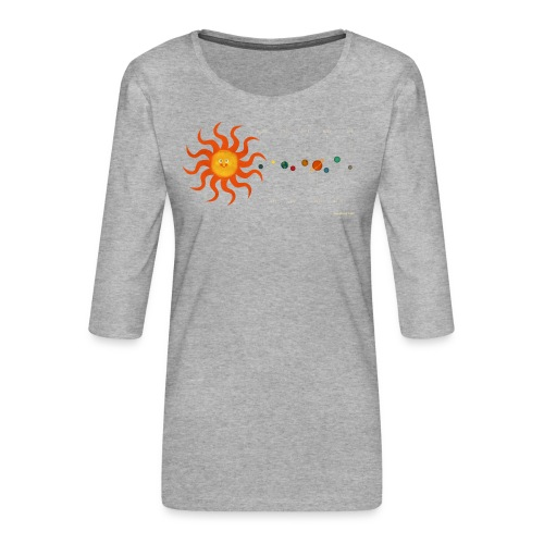 Solar System - Women's Premium 3/4-Sleeve T-Shirt