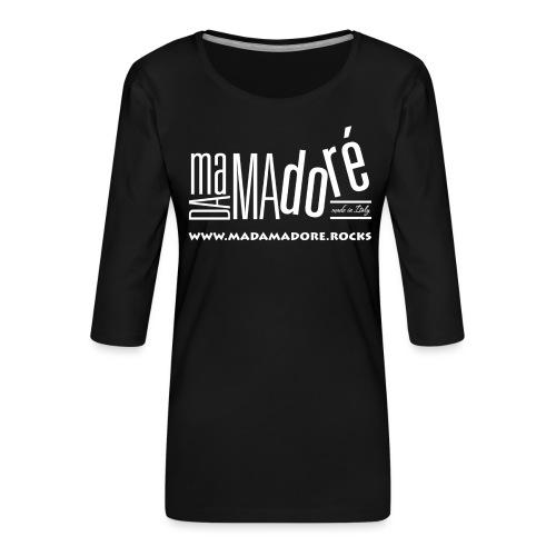 T-Shirt Premium - Uomo - Logo Bianco + Sito - Maglietta da donna premium con manica a 3/4