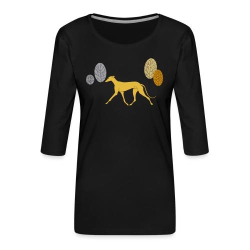 Gelber Windhund - Frauen Premium 3/4-Arm Shirt