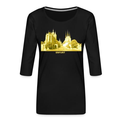 Erfurt Thüringen Dom Severikirche - Frauen Premium 3/4-Arm Shirt