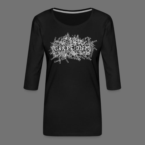 carpe diem (white) - Frauen Premium 3/4-Arm Shirt