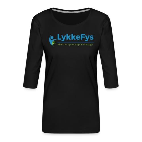 Lykkefys Esbjerg - Dame Premium shirt med 3/4-ærmer