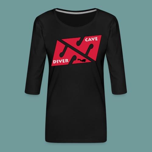 cave_diver_01 - T-shirt Premium manches 3/4 Femme