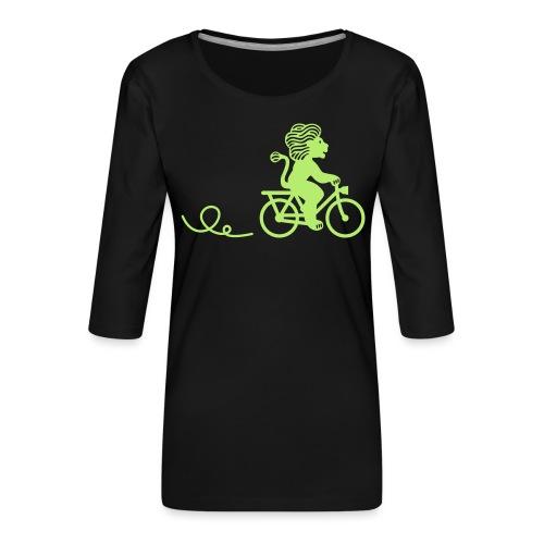 Züri-Leu beim Velofahren ohne Text - Frauen Premium 3/4-Arm Shirt