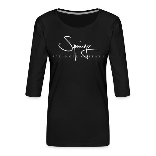 Logo Springer Guitars - T-shirt Premium manches 3/4 Femme
