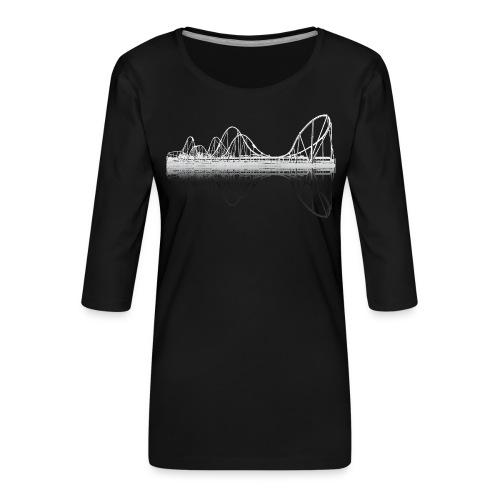 silverstar_weiss - Frauen Premium 3/4-Arm Shirt