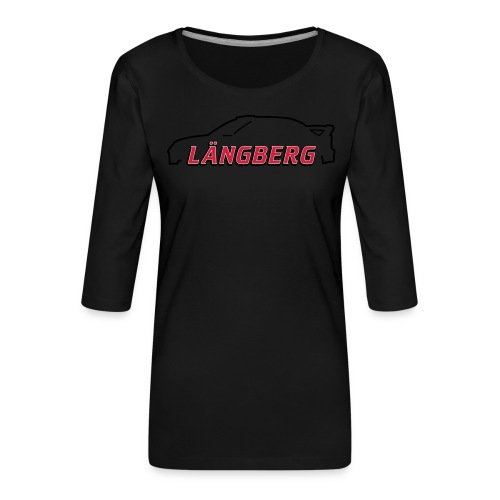 logotype Laengberg - Premium-T-shirt med 3/4-ärm dam