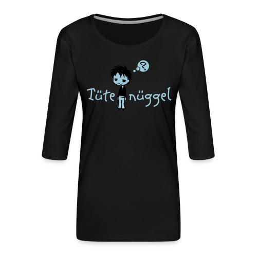 Tütenüggel (Kölsch, Karneval, Köln) - Frauen Premium 3/4-Arm Shirt